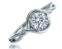 Fredric Sage 14kt White Gold Twist Engagement Ring image 2