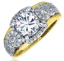 Frederic Sage Wide Multi Round Diamond Halo T/T Engagement Ring  image 2