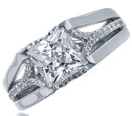 Fredrick Sage Princess Cut White Gold Engagement Ring image 2