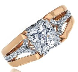 Fredrick Sage Princess Cut Rose Gold Engagement Ring image 2