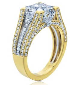 Frederic Sage Princess Cut Two Tone Cathedral Diamond Engagement Ring image 2