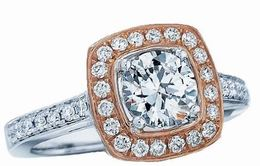 Fredric Sage Rose Gold Halo Engagement Ring image 2