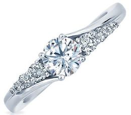 Frederic Sage Round With Perpetuity Diamonds Engagement Ring image 2