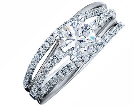 Frederic Sage Round Open Shank Engagement Ring image 2