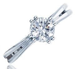 Frederic Sage Round Sleek Open Shank Engagement Ring. image 2