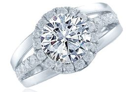 Frederic Sage Round Wide Channel Engagement Ring image 2