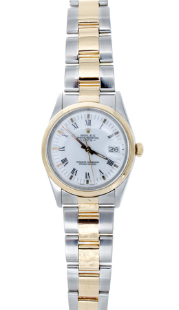 Two Tone White Roman Watch with 34mm case image 2