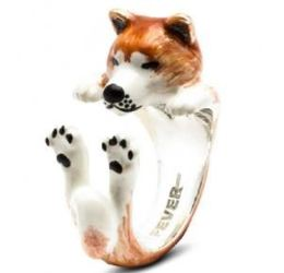 Dog Fever Akita Inu Ring Pet Lover Gift image 2