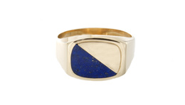 Estate Men's Lapis Ring image 2