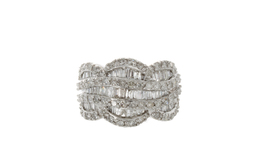 Estate Baguette and Round Diamond Ring image 1