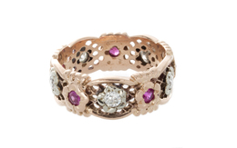 Estate Ruby and Diamond Design Band image 2