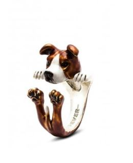 American Stafford dog breed gifts for pet owners hug ring jewelry fine quality sterling silver