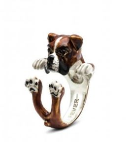 Boxer Dog Breed gift of fine quality sterling silver enameled jewelry