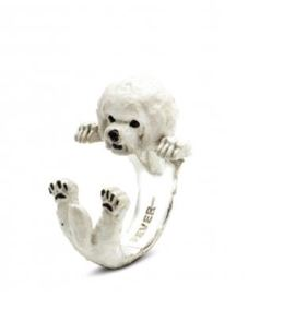 Bichon Frise Dog breed ring from dog fever jewelry designers are great pet owner gifts