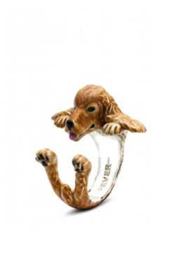 Cicker Spaniel dog breed ring from Dog Fever Italian artisans of fine silver enameled jewelry and rings.