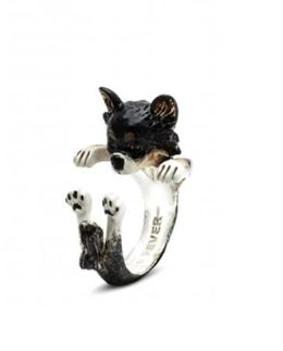 Chihuahua long hair dog breed ring from Dog Fever Jewelers will be a favorite pet owner gift.