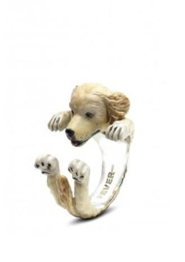 Golden Retriever Hug Ring by Dog Fever the perfect gift for pet owners who love golden retriever dogs.