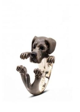 Great Dane dog breed owner gift hug ring by Dog Fever Jewelers.
