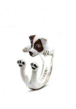 Fine quality jewelry from Dog Breed pet owners. Jack Russell miniature dog portrait jewelry from Italian artisans.