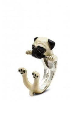 Dog Fever Jewlery Pug Dog Breed ring a great gift for dog owners.
