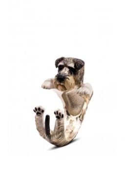 dog fever schnauzer breed hug ring the perfect gift for pet dog owners