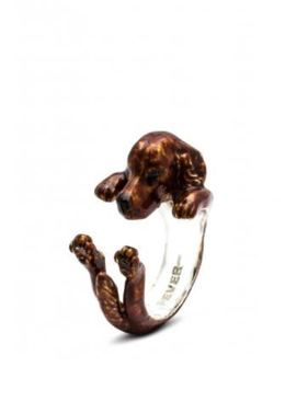 Irish setter hug ring by dog fever fine quality gifts for pet owners of the setter dog breed