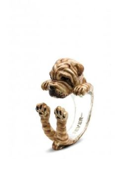 Shar Pei dog fever hug style ring great quality  gifts for pet owners