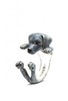 Dog Fever jewelry makers hug style ring Weimaraner dog breed miniature likeness