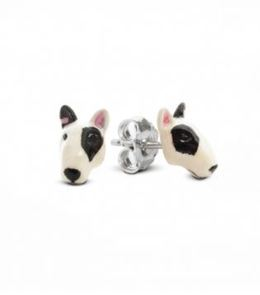 Bull Terrier earrings from Dog Fever Jewelers are the best gift for Bull Terrier dog pet owners.