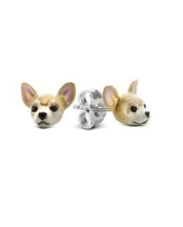 Dog Fever dog face earrings of the Chihuahua dog breed for a high quality gift for pet owners.