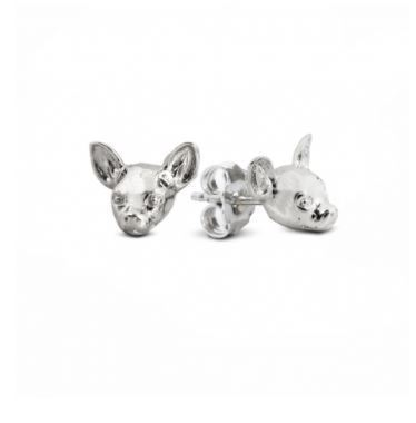 Chihuahua dog breed pet owner gift of sterling silver fine quality jewelry from Dog Fever Italian designers.