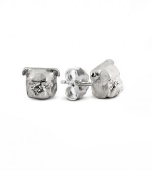 Dog Fever Jewelers English Bulldog Earrings Fine Quality Sterling Silver Head Image Hand Made