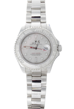Rolex Pre - Owned Yachtmaster with Platinum Dial image 2