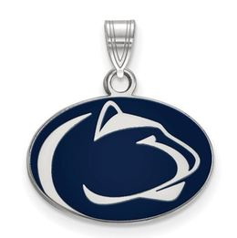 Penn State Sterling Silver Enameled Lion Head Charm Small image 2