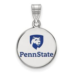 Penn State Sterling Silver Logo Pendant with Enamel image 2