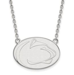 Penn State Sterling Silver Lion Head Necklace Large image 2