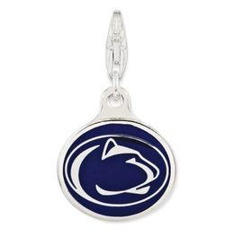 Penn State Sterling Silver Enameled Lion Head Disc Charm with Lobster Clasp image 2