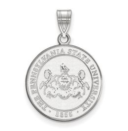 Penn State Sterling Silver University Crest Pendant Large image 2