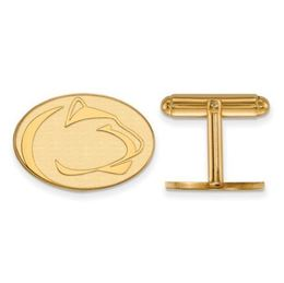 Penn State Gold Plated Sterling Silver Lion Head Cuff Links image 2