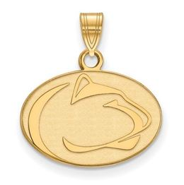 Penn State 10k Yellow Gold Lion Head Pendant Small image 2