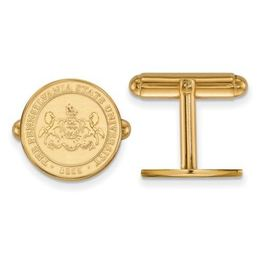 Penn State University Seal 14k Yellow Gold Cuff Links image 2