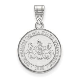 Penn State Sterling Silver University Crest Medium Pendant image 2