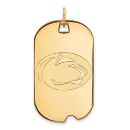 Penn State Gold Plated Sterling Silver Lion Head Dog Tag Large image 2