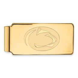 Penn State Gold Plated Sterling Silver Lion Head Money Clip image 2
