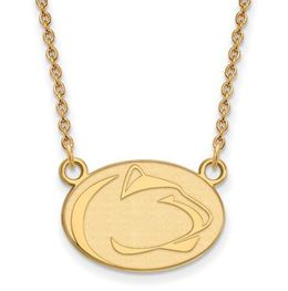 Penn State 10k Yellow Gold Lion Head Necklace Small image 2
