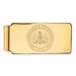 Penn State Gold Plated Sterling Silver University Crest Money Clip image 2
