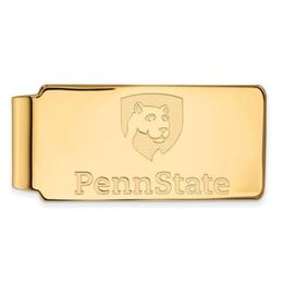 Penn State Gold Plated Sterling Silver Logo Money Clip image 2
