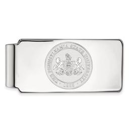 Penn State 14k White Gold University Seal Money Clip image 2