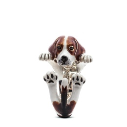 a unique gift for the Beagle lover sterling silver fine jewelry pet owner hug ring from dog fever