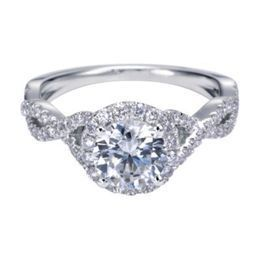Stunning Halo Diamond Engagement with a Twist by Polenza image 2